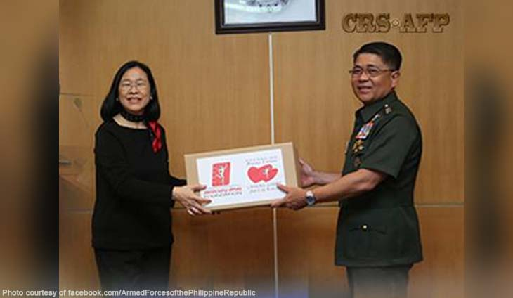 Armed Forces of the Philippines (AFP) and Mercury Drug Foundation (MDFI) signed a deed of donation