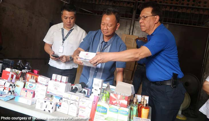 Bureau of Customs BOC Commissioner Isidro Lapeña P600M fake beauty products