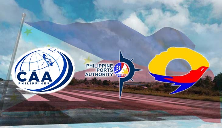 Department of Transportation Civil Aviation Authority of the Philippines Philippine Ports Authority Manila International Airport Authority