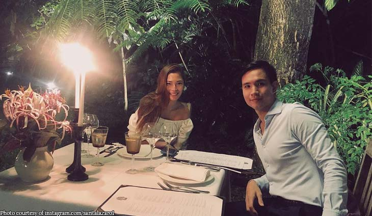 Charles Tiu and Sarita Lazaro celebrate their first Valentine's Day together