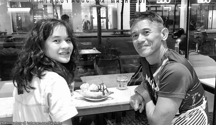 Dennis Valdes goes on date night with daughter Athena