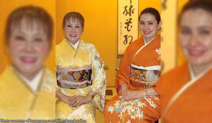 Ailleen Damiles bonding with mom in Japan