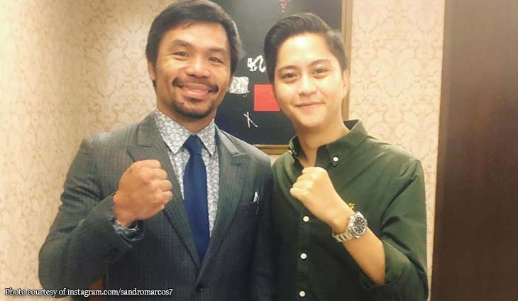 Sandro Marcos gets starstruck meeting Manny Pacquiao